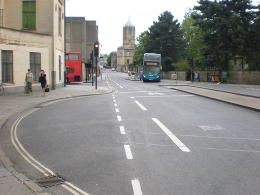 Painting a cycle lane across a signalled junction